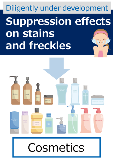Suppression effects on stains and freckles